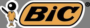BIC. Производитель канцелярских товаров, одноразовых бритв и зажигалок.
